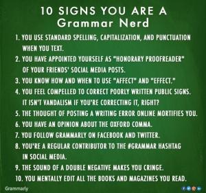 Grammar Nerd rules