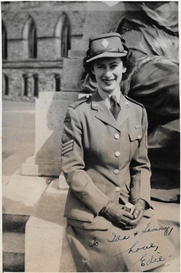 Edie in uniform
