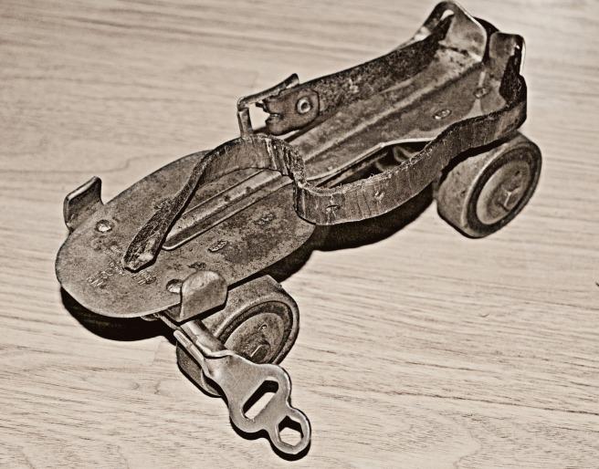 roller skate and key