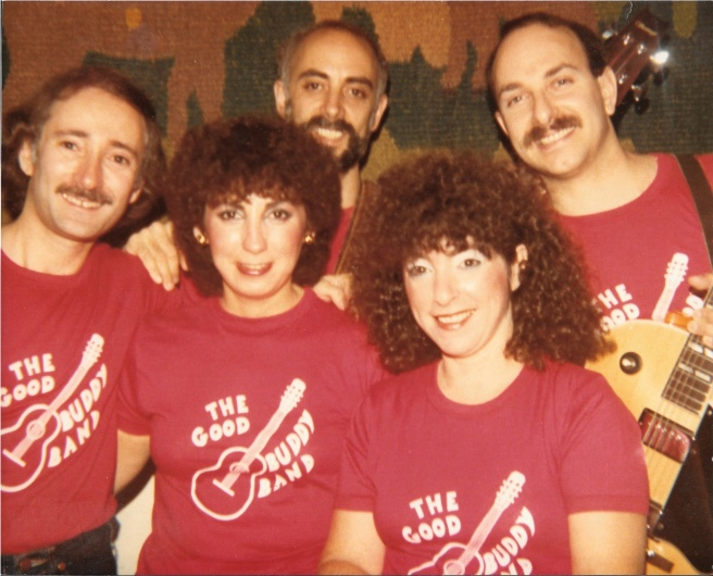 The Good Buddy Band with our red T-shirts