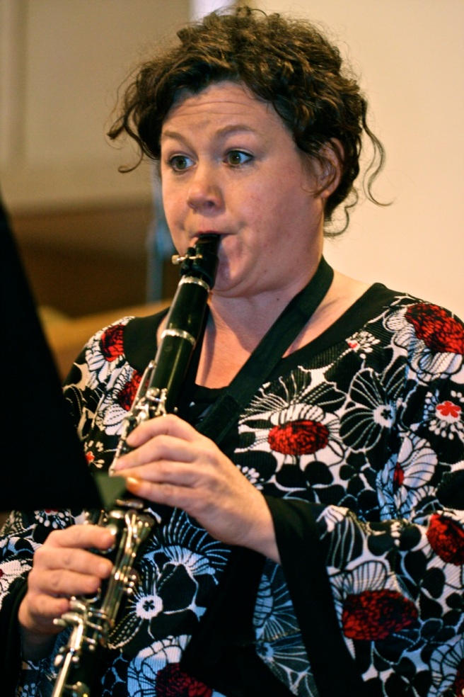 Girl playing clarinet