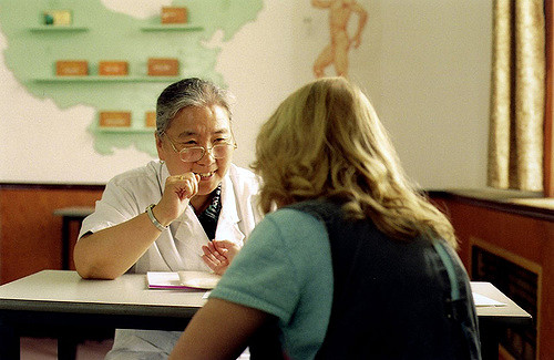 Chinese doc and patient