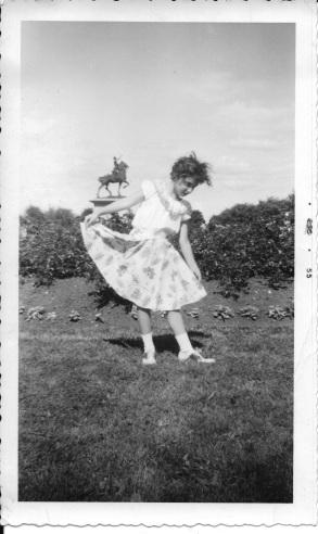 Ellie in Quebec City - 1955 'Plains of Abraham'