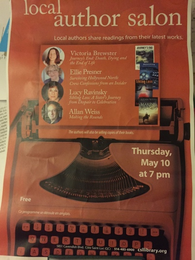 Local Author Salon - library flyer