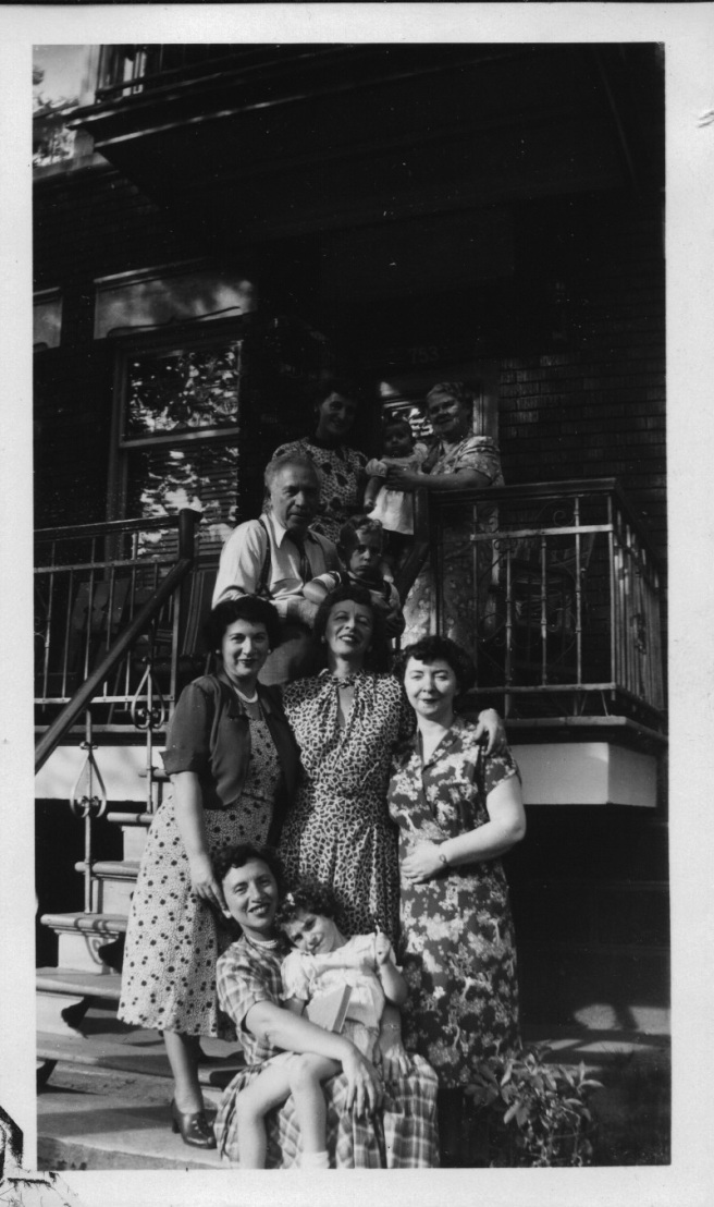 family at bubby's-july 1953