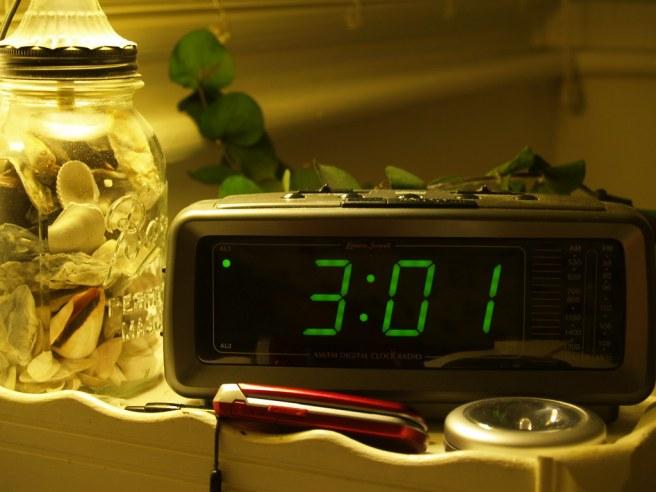 Clock at 3:01