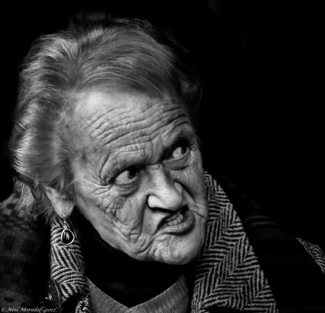 Grumpy old woman
