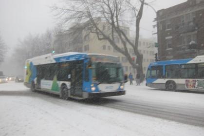 Bus - snow storm