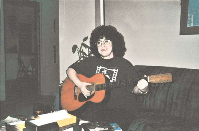 Ellie + Martin guitar c. 2000