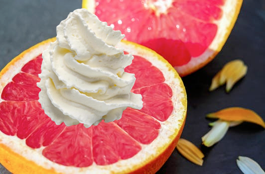 Grapefruit-whipped cream