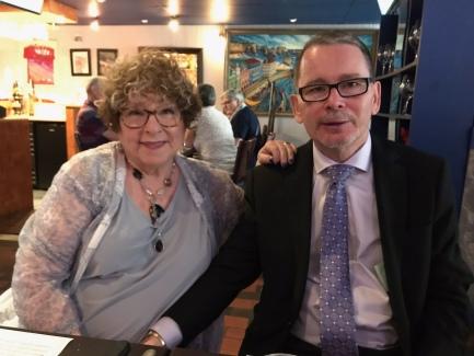 Ellie & John at Casa Vinho, after our wedding ceremony