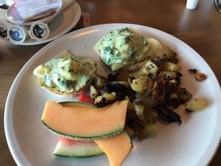 """John's """"Eggs Florentine"""" brunch at Brasserie Manoir"""