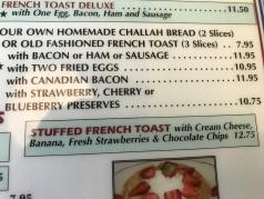Diner-menu